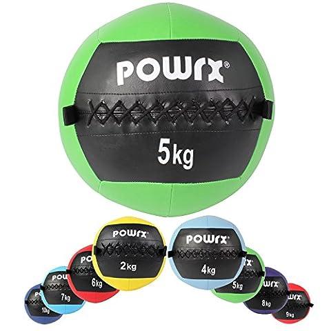 Wall Ball - Médecine Ball - Balle médicale Deluxe / 2 kg - 3 kg (2 Spugna Palle)