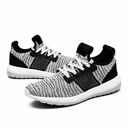 Chaussures De Sport D'été Pour Hommes Chaussures De Course De Tendance De Printemps Noir Et Blanc