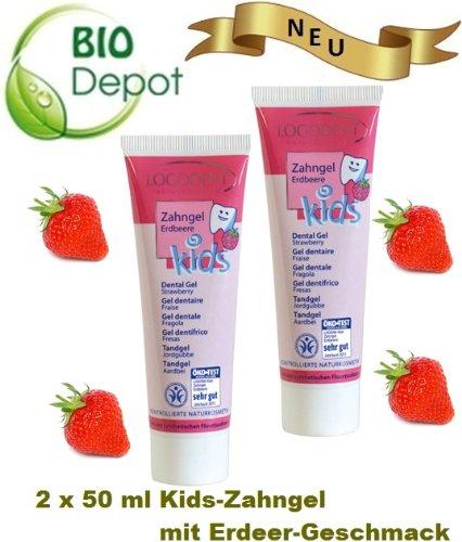 Mihastsch-Diewald LOGODENT Kids-Zahngel Erdbeere. Milde Zahnpflege für Kinder