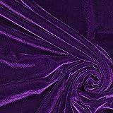 Fabulous Fabrics Stretch Samt lila - Meterware ab 0,5m -