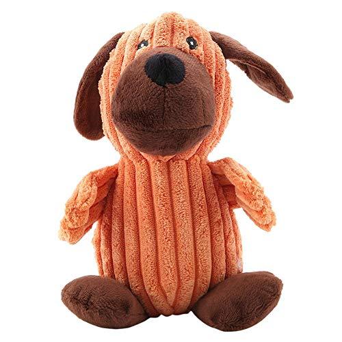 Duokon Hundespielzeug Kauspielzeug Plüschspielzeug dauerhaftes Haustier Kauen Spielzeug Puppy Spielzeug mit weicher Plüsch Ton DREI Formen Hundegeschenke(Hund) -