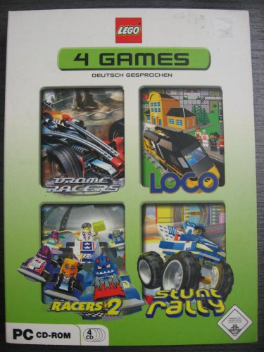 LEGO 4 PC GAMES : Bionicle - Drome Racers / Loco / Racers 2 / Stunt Rally (Lego Stunt Rally)