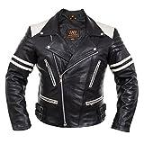 WM FASHION Herren Lederjacke,Motorbike Leather Jacket,Bikerjacke Motorrad Lederjacke Fashion Jacket,Herren Lederjacke Le