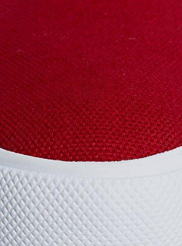 Oodji Ultra Women Tinta Unita In Tessuto Color Rosso Pantofola (4510b)