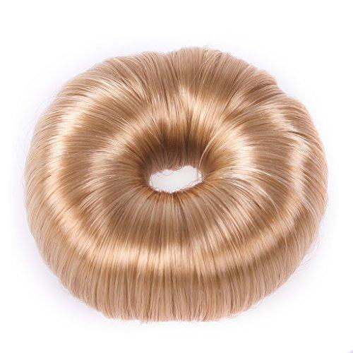 QHP Duttkissen Donut Deluxe Knotenrolle Haarknoten Knotenring blond braun schwarz (Blond)