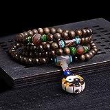 Zhiming 108 Perlen aus Holz Gold Unicanaliculata Wasser plätschern Armband