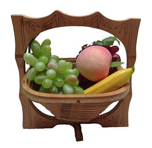 GMMH Fruits en bambou pliable Bol décoratif en bois 8