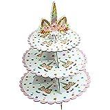 Ailyoo 3 Strati Torta Stand Piatti di Frutta Piastra Torta Piatto di Ceramica Stand Torta Cupcake Holder Dessert per tè pomeridiano Festa di Nozze Anniversario-Piccolo Partito
