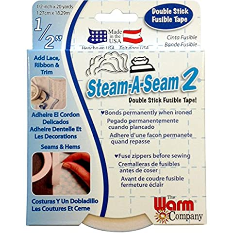 The Warm Company 5510Lite Steam-A-Seam 2DOUBLE-SIDED Adhesive Tape, 13mm x 18.3m