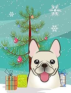 Caroline 's Treasures bb1610gf Weihnachtsbaum und französische Bulldogge Garten Flagge, klein, multicolor