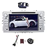 GPS Navigation f¨¹r Auto-Stereodoppel 2Din Bluetooth Touch Screen 7 Zoll Android 7.1 Quad Core 1GB + 16GB CD / DVD-Spieler f¨¹r Ford Focus 2009 2010 2011 2012 mit kostenloser Backup-Kamera und Canbus
