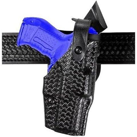 Safariland 6360 livello 3 Retention Als Duty fondina, Mid-Ride, colore: nero, Basketweave, mano destra, Glock 34, 35 e