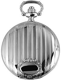 Excellanc llanc Analog Reloj de bolsillo con mecanismo de cuarzo y cierre de gancho 481022000004Plata coloreado Chasis tamaño 42mm x 13mm con esfera de color blanco y cristal de plástico Cristal