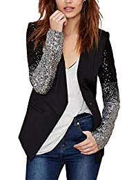 Kasen Femme Blazer OL Slim Unique Breasted Sequin Manches Longues Veste  Jacket Outwear c00467a3a8a1