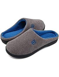 Pantofole Uomo Unisex Donna Antiscivolo Scarpe Inverno Peluche Morbido  Ciabatte in Memory Foam 8033078eb3e
