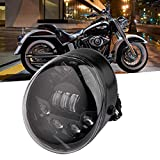 Suparee LED Frontleuchte LED Scheinwerfer 60W 12V für Harley Davidson VRSCA V-Rod VRod 02-16 (schwarz)