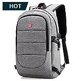 mochila para portatil hombre 15.6 pulgadas mochilas antirobo impermeable casual usb laptop backpack...