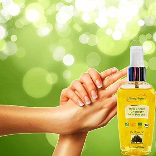 100% Reines Arganöl: Gesichtsöl, Haaröl, Körperöl, 125ml -Bio Kaltgepresstes Basisöl, Organisch Zertifiziert. Bio Öl für Haare : Sprühkur / Haarkur, Haarpflege Besser Als Eine Pflegende Haarmaske. Stärkt bei Haarausfall - Öl für Körper:Arganöl Haut Für Trockene Haut.Dehnungsstreifen Öl während der Gewichtsverlust/Anti Cellulite Pflege : Hilfe bei Orangenhaut und Cellulitis.Gegen Schuppenflechte.Öl Für Gesicht:Pflege Mit Vitamin E, Anti-Aging Gesichtsserum, Gegen Hautausschlag. -