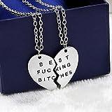 für immer Seil Gliederkette Choker Halskette Modeschmuck Geschenk gebrochenes Herz beste Freunde (Silber)