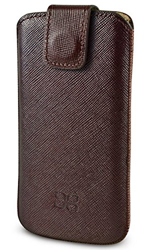 "Bouletta ""Lift"" Sacco Tobacco Apple iPhone 5S , iPhone 5 Echt Hülle Leder Tasche Etui Case Handytasche Ledertasche Schutzhülle - aus echtem Rindsleder mit PUSH OUT Funktion Sacco Tobacco"