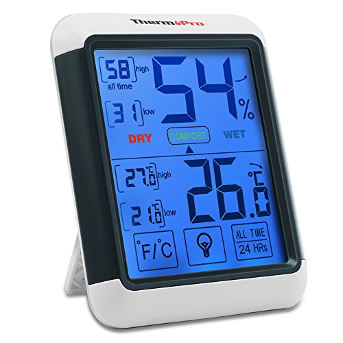 ThermoPro TP55 digitales Thermo-Hygrometer Innen Thermometer Hygrometer...