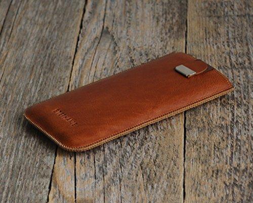 HTC Bolt One X10 X9 M8 E8 Desire 555 626 825 630 530 Prime Camera Pro Lifestyle Case Leder Hülle Tasche Etui Cover personalisiert durch Prägung mit ihrem Namen, Monogramm
