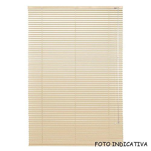 Vetrineinrete tende veneziane in pvc veneziana finestra tenda ripara dal sole marrone beige chiaro scuro effetto legno grigio bianco arredare casa (beige chiaro effetto legno, 60 x 160) p70