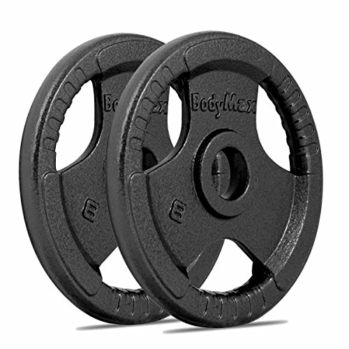Bodymax Olympic Cast Iron Weight Disc Plates - 2 x 25kg