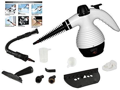 Preisvergleich Produktbild 10 in 1 Multi Dampfreiniger Steam cleaner Extreme Handdampfreiniger Dampfreinigungsgerät 1.100 Watt Inkl. 10-teiligem Zubehör Max. 3, 5bar
