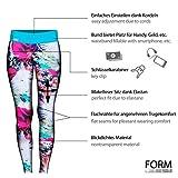 Formbelt® Damen Laufhose mit Hüfttasche für Smartphone, Schlüssel, Geld (Blumenmuster) - 2