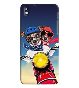 Fuson Premium Joy Ride Printed Hard Plastic Back Case Cover for HTC Desire 816G