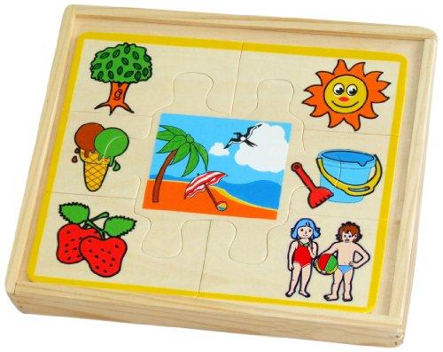 Sapin Malin - SM59355 - Coffret 4 Puzzles Thématiques - Saisons