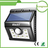 #6: Blackt Solar Lights 8 LED Wireless Waterproof Motion Sensor Outdoor Light for Patio, Deck, Yard, Garden with Motion Activated Auto On/Off【Upgraded Version Waterproof】