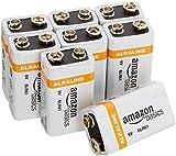 AmazonBasics 9 Volt Alkaline Batteries, Pack of 8