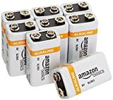 AmazonBasics 9 Volt Alkaline Batteries, Pack of 8