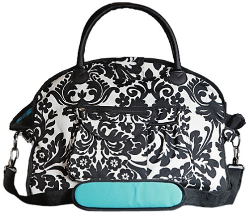 sassy-caddy-womens-classy-fitness-tote-bag-turquoise-black-white