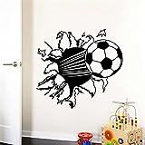 Pegatina de pared adhesivo balon de futbol efecto 3D Tamaño: S
