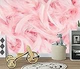 Fototapete Vlies Tapete 3D wallpaper Wanddeko Design Moderne Anpassbare Wandbilder Ästhetische Pink Flamingo Feder Tv Sofa Hintergrund Mauer