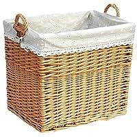 Xinxinchaoshi Laundry Baskets Rattan Dirty Clothes Storage Basket Home Toy Clothes Storage Box Storage Basket Easily Transport Laundry Basket