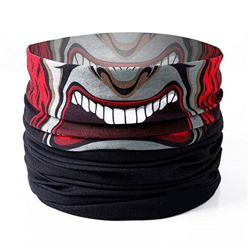 ultiunktionstuch Maske Fishing Totenkopf Schal Skull Bandana Gesichtsmaske Halstuch Ski Motorrad Paintball Halloween Maske Motorrad Totenkopf Maske / Face Shield / Sturmmaske (Beängstigend Masken Für Kinder)