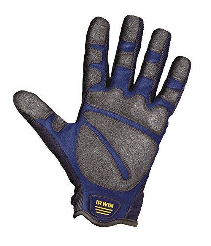 Irwin Bau-Handschuhe Grösse L, Arbeitshandschuh für grobe rauhe Arbeiten, 10503826