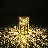 WZTO Lanterna solare, le luci solari marocchina Silhouette appendere le luci IP44 Impermeabile LED Vintage Lampada da Giardino Calda Luce Notturna Bianca Patio cortile Balcone