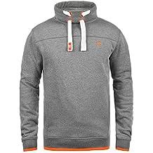 Solid Benjamin Herren Sweatshirt Pullover Tube-Neck Pulli Mit Stehkragen  Und Fleece-Innenseite ! 4e405b9129
