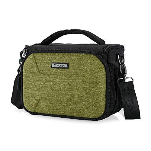 DSLR-Kameratasche, beliebte SLR-Kameratasche, Messenger Bag Anti-Diebstahl, große Kapazität, wasserdichte Kameratasche für Canon Nikon, Grün