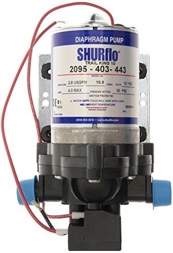 Shurflo Trail King 10 Wasserpumpe, Silber, 12V, 30 PSI -