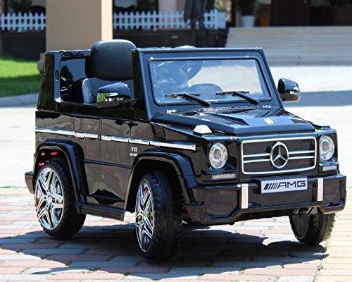 RC Auto kaufen Kinderauto Bild 2: Trendsky Lizenz Mercedes Benz G65 Elektro Power mit 2X Power Motoren, Kinderauto Sportwagen Kinder Akku Fahrzeug Kinderfahrzeug Kid Auto (Schwarz)*