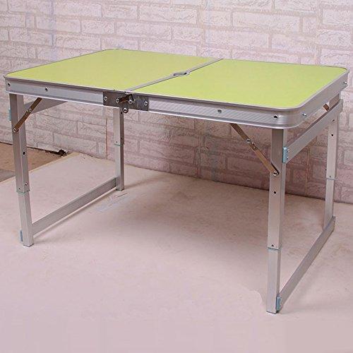 LVZAIXI Jardin extérieur en Aluminium Portable Pliant Camping Pique-Nique Partie Champ Cuisine Barbecue Table (Couleur : Vert)