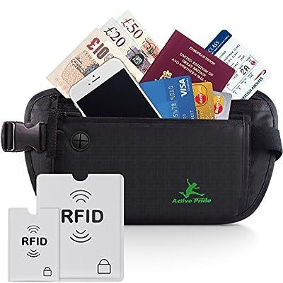 Money Belt for Travel and Running - RFID Blocking Waist Bag for Men and Women