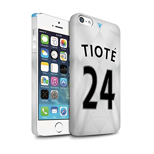 Offiziell Newcastle United FC Hülle / Matte Snap-On Case für Apple iPhone 5/5S / Pack 29pcs Muster / NUFC Trikot Away 15/16 Kollektion Tioté