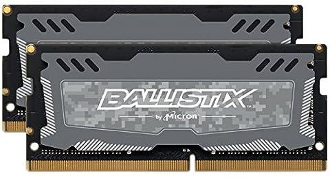 Ballistix Sport LT 32GB Kit (16GBx2) DDR4 2400 MT/s (PC4-19200) DR x8 SODIMM 260-Pin (Grau)